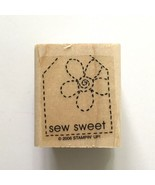 Stampin Up So SEW SWEET Rubber Stamp Sewing Quilting Stitch Tag Label Card - $2.97