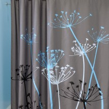 Hot Sale Dandelion Pattern 3D Waterproof Polyester Shower Curtain with 12 Plasti - $27.93