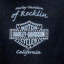 HARLEY-DAVIDSON MOTOR CYCLES ROCKLIN CA. WOMEN'S (S) BLACK HOODIE RHINES... - $23.38