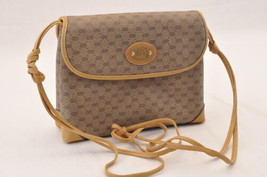 GUCCI GG Canvas Shoulder Bag Brown PVC Leather Auth sa1823 **Powder - $210.00