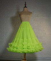 Fluorescent Green Layered Tulle Skirt Ballet Tutu Skirt Plus Size A-Line Layered image 5
