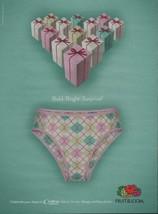 2008 Fruit of the Loom Underwear PRINT AD Page Panties Lingerie Advertising - $4.47