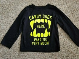 The Children's Place Black Halloween Candy Top Size 3T New - $3.66