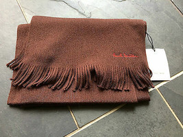 Paul Smith scarf 100% Pure New Wool Dark Brown - $106.72