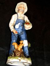 Figurine of a Farmer with Squirrel Homco 1434 AA19-1618 Vintage image 6