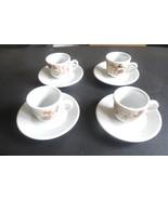 Piccolo Mondo Antico by Saturnia Set/4 Espresso Cups & Saucers - $23.76