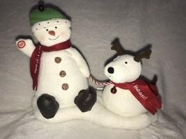 2004 Hallmark Jingle Pals Snowman and Dog Plush Sound Motion Jingle Bells - $19.99