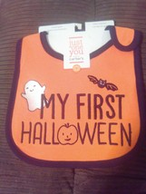 My First Halloween - Teething Bib - Just One You - 100% Cotton - NEW - $6.64