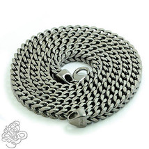 925 Silber 14k Schwarz Vergoldet Quadrat Franco Herren Halskette Italien... - £48.04 GBP+