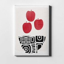 """Bowl Of Apples By Woods Giclee Canvas Wall Art, 12"""" X 16"""", Rary - $82.99"""