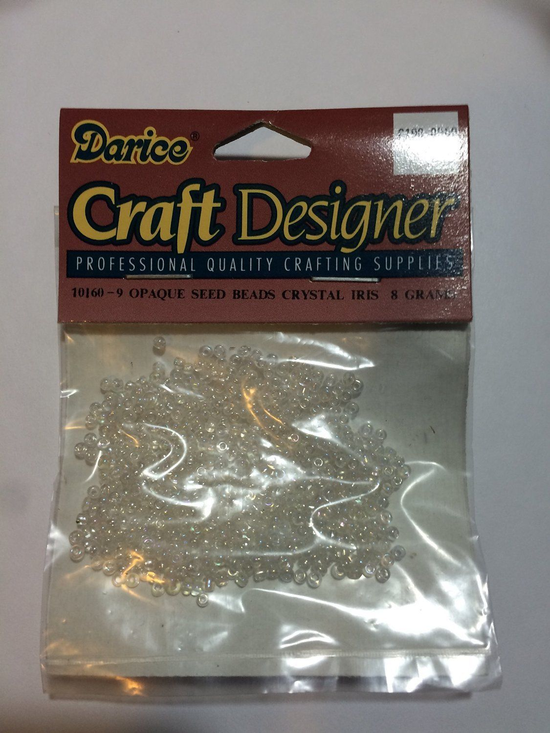 WHOLESALE DARICE 8 GRAMS CRYSTAL IRIS OPAQUE GLASS SEED BEADS (3-PACKS) #10160-9