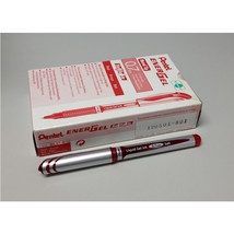 Pentel BL57 EnerGel 0.7mm Refillable Metal Tip Liquid Gel Pen (12pcs) - Red / Re - $28.99