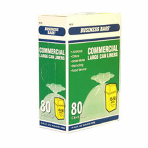 Institutional Trash Bags, Clear, 45-Gal., 80-Ct. - $34.64