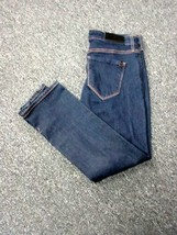 !IT Blue Cotton Flat Zip Front 5 Pocket Ankle Straight Leg Jeans Sz 28 D... - $29.69