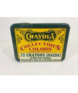 1991 Crayola Tin Collectors Colors Limited Edition 72 Crayons-New Sealed... - $10.89