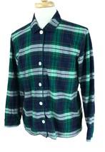 J Crew Men's Long Sleeve Soft Cotton Navy Blue Plaid Pajama Lounge Shirt... - $14.17