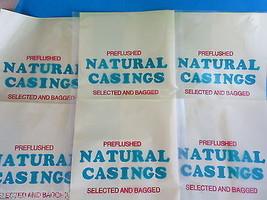 Natural hog pork casings for large volume use.  6 packs for 600 lbs of s... - $128.23