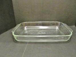 CORNING PYREX Casserole Baking Dish Clear Glass 4 Quart 234-R Large Rectangular - $18.70