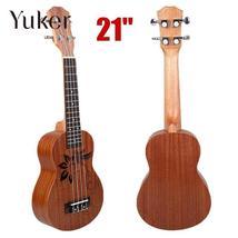 """Yuker 21"""" Mini Sapele Ukulele Ukelele Rosewood Fingerboard Guitar Mahoga... - $47.91"""