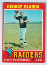 1971 Topps #39 George Blanda Oakland Raiders EXCELLENT+ cond. pack fresh #a - $8.96