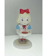 Campbell Soup Girl Porcelain Bisque Figurine Dated 1993 - $17.75