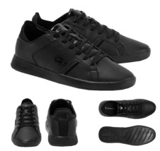 Lacoste Men's Casual Novas 120 3 SMA Athletic Shoes Leather Black Sneaker image 1