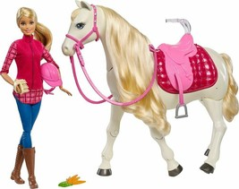 Barbie - Barbie and her DreamHorse - Red/Pink/White FDB9 Blonde Barbie - $83.76