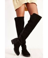 Union Bay Barb Womens Over The Knee Black Boots Sz 6 9 - $69.99