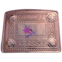 Scottish Kilt Belt Buckle 4 Dome Mirror Design Copper Antique/Kilt Belt ... - $12.75