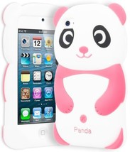 Cute Baby Pink 3D Panda Animal Silicone Case Cover for iPod Touch 4th Ge... - $4.95