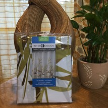 "Bamboo Print Shower Curtain Fabric Brown & Olive Print 72""x72"" NEW - $14.99"