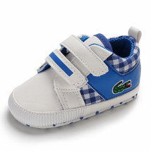 Free Shipping Blue Baby Walking Shoes Leather Toddler Shoes Size 1,2,3 L6482 image 4