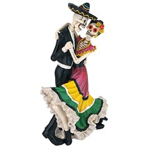 Day of the Dead Zombie Skeleton Dancers Statue Halloween Decoration Tabl... - $43.55