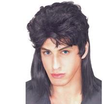 Wig - Mullet - Black - Adult Men Mens Joe Dirt White Trash Redneck Novelty - $10.21