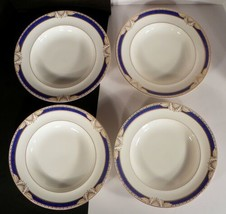 Mikasa Grimaldi Large Rim Soup Bowl (S) Lot Of 4 Petite Bone China Japan - $59.35