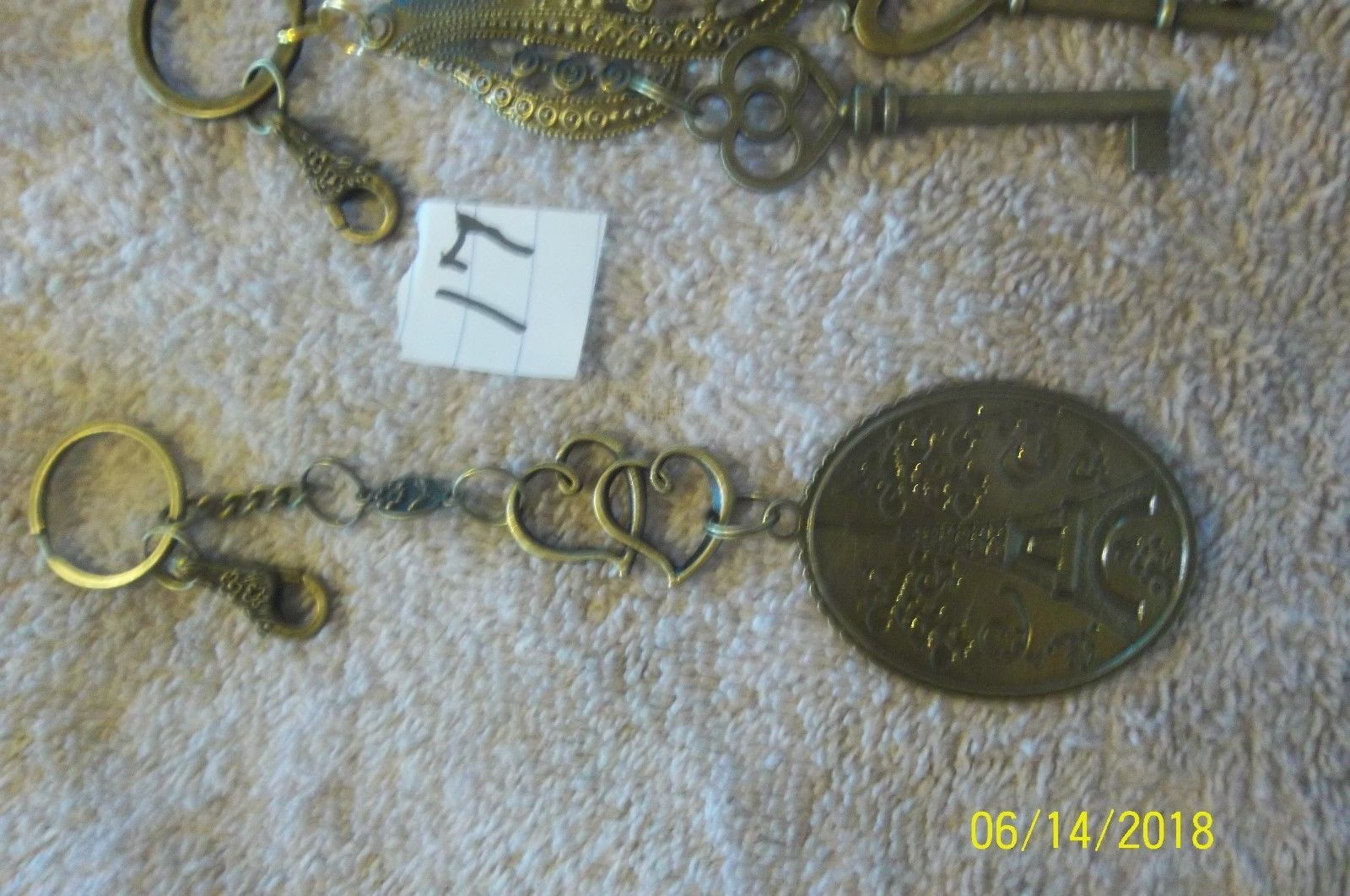 # purse jewelry bronze color keychain backpack  dangle charms #17 lot of 2 image 2