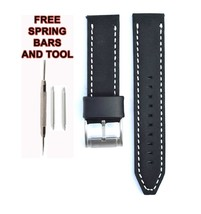 Fossil JR1461 22mm Black Leather Watch Strap Band FSL106 - $28.70