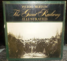 Vintage (1971) first-edition The Great Railway Illustrated book by Pierr... - $219.99