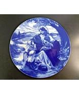 "Avon Collectors Plate ""Bless the Little Children"" Cobalt Blue Christmas ... - $12.69"