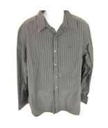 American Eagle Men's Black Gray Button Front Shirt XL - $19.79