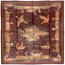 RARE Hermes Scarf LA MARE AUX CANARDS Vintage 90cm Silk Carre DUCHESNE - $5.754,57 MXN