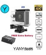 """SILVER H9 HD 4K Action Camera Waterproof 12MP 2.0"""" LCD Screen WiFi Sport... - $29.99"""