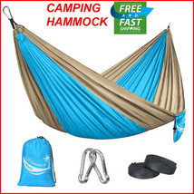 Double Camping Hammock 2 Two Person Outdoor Parachute Tent Travel Hangin... - $18.55