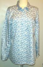 Gap Womens Size M Medium Cat Printed Fitted Boyfriend Button Front Blouse Shirt - $18.99