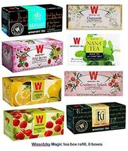 WISSOTZKY Magic Tea Box, Refill (8 boxes, 200 tea bags) - $42.50
