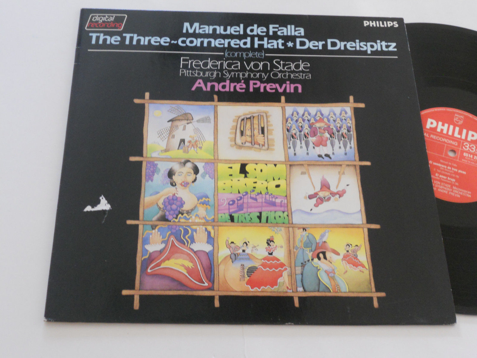 Primary image for FALLA NM Three-Cornered Hat PREVIN Frederica von Stade Pittsburgh 6514 281
