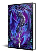 Dragon Fantasy Storm Blade Purple Dragon Embossed Journal Diary Notebook... - $15.83
