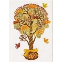 RIOLIS Counted Cross Stitch Kit, Tree Of Money, Kit #R1294 - $21.78