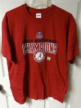Vintage Alabama Crimson Tide Football 2009 National Champs T-Shirt Men L New - $20.39