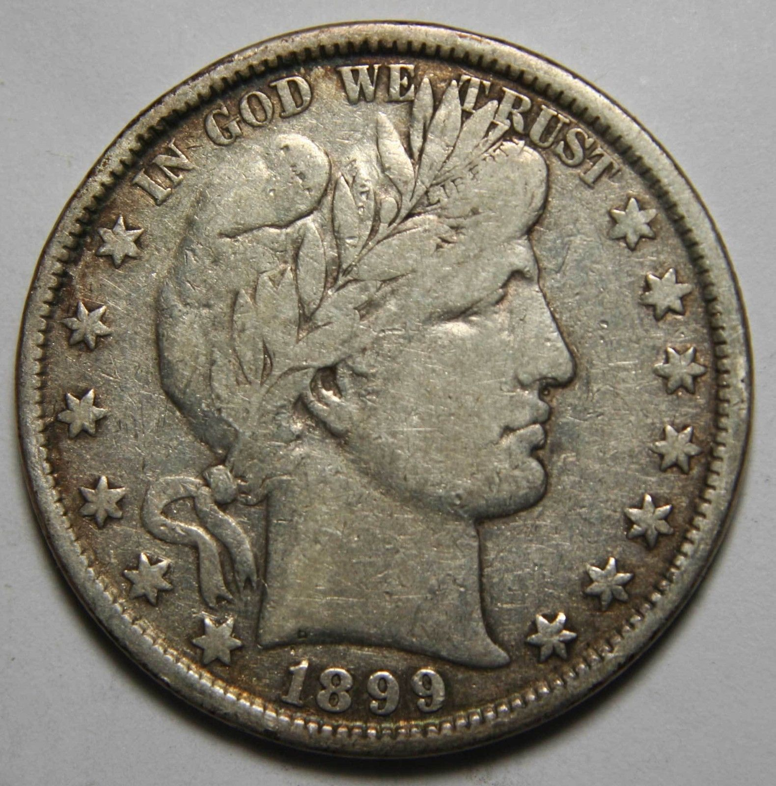 1899 Liberty Barber Head Half Dollar 50¢ Silver Coin Lot# MZ 4365